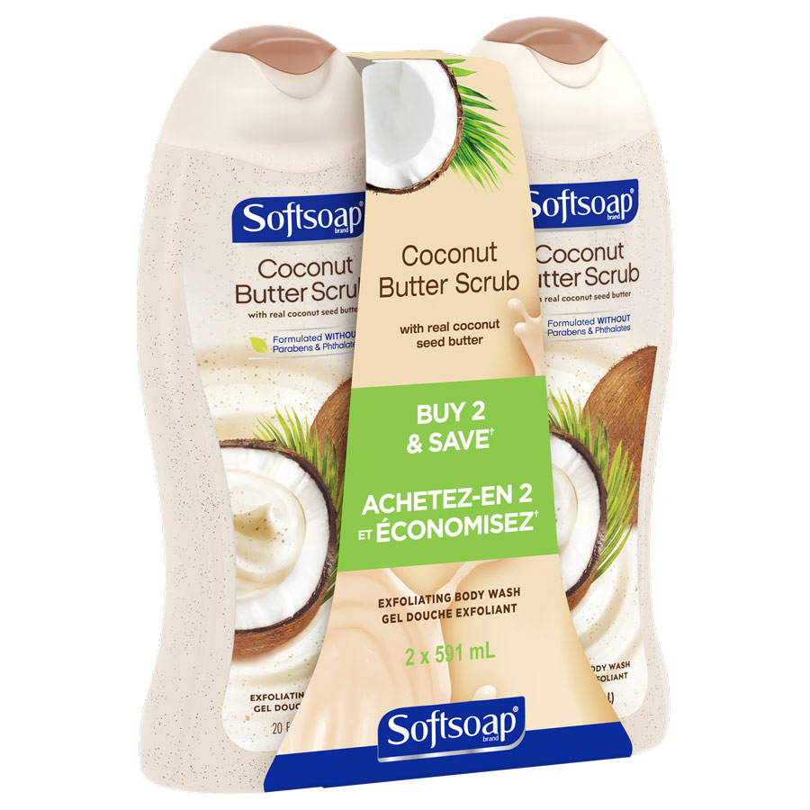 Softsoap Coconut Butter Scrub 20oz twinpack