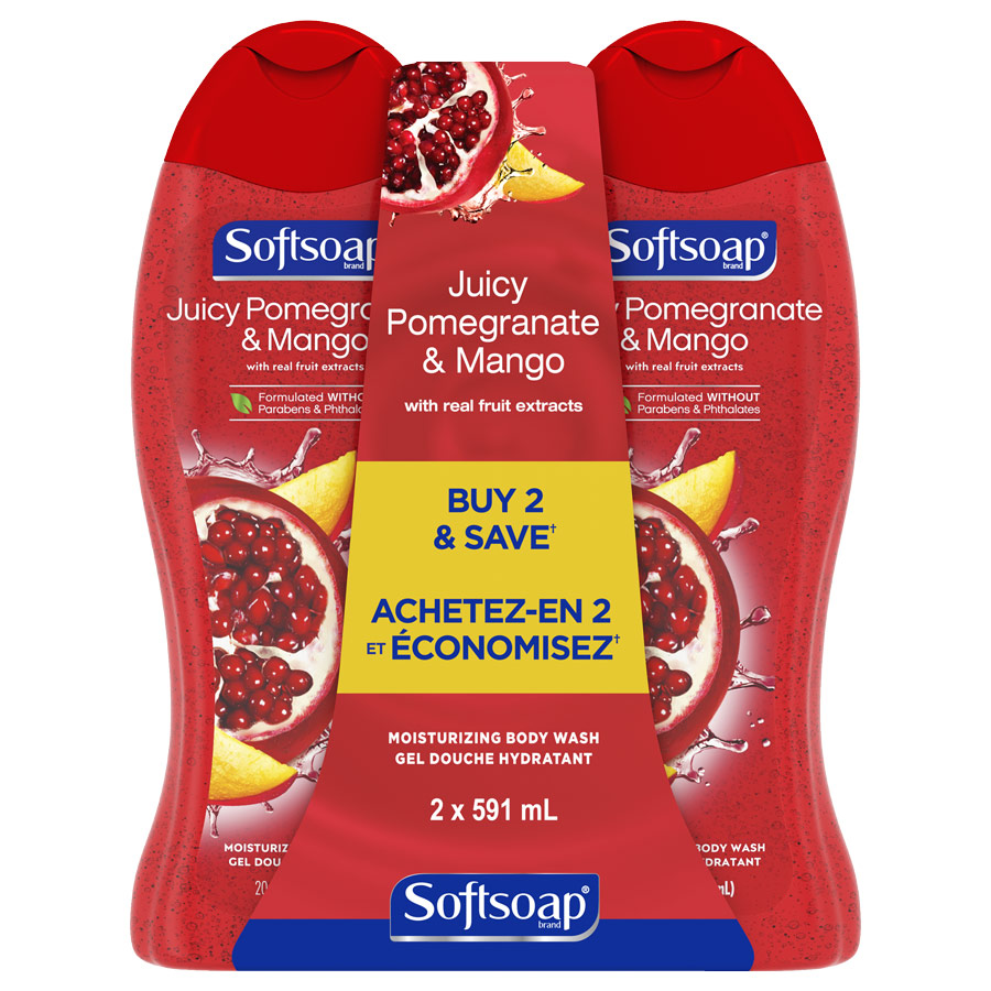 Softsoap Juicy Pomegranate & Mango 20oz twinpack