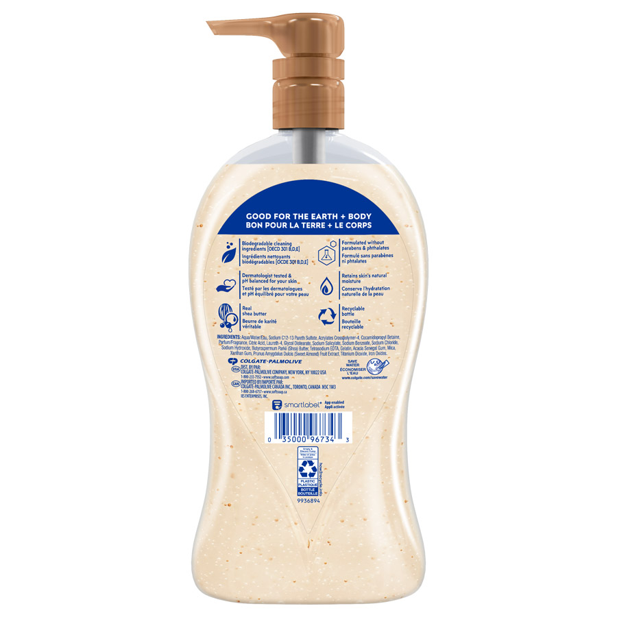 Softsoap Shea & Almond Oil 32oz back view