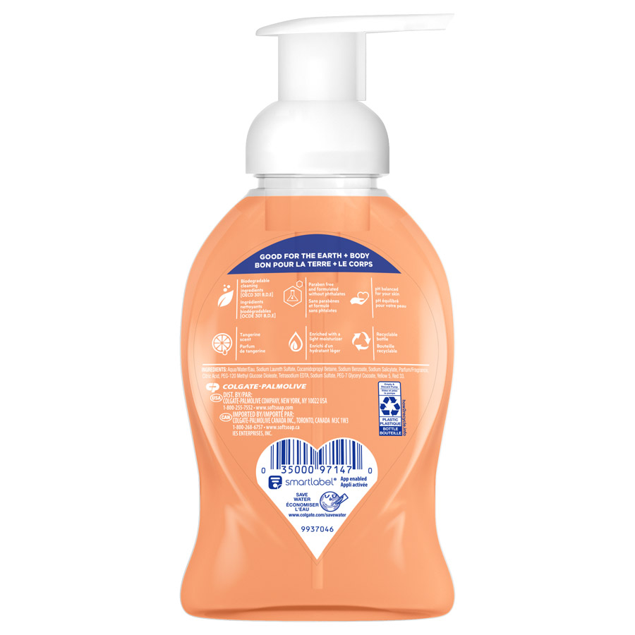 Foaming Hand Soap Tangerine Treat 8oz back view